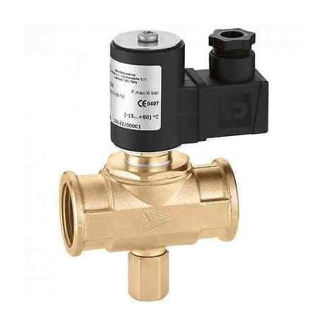 Caleffi 8541 Elettrovalvola gas, normalmente chiusa con riarmo manuale