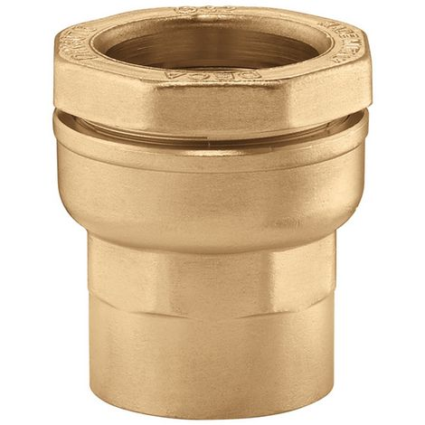 "Caleffi 860420 - external clamping connection Brass straight 1/2""F -"