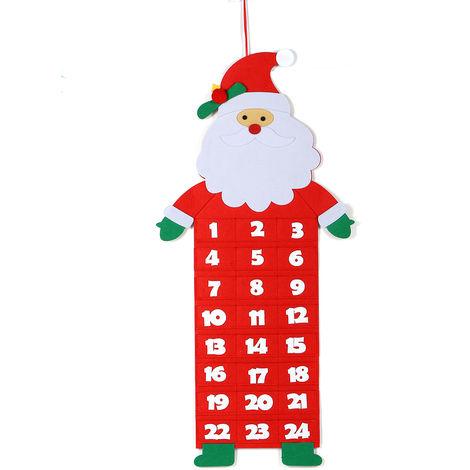 Calendario navideño durante las decoraciones navideñas