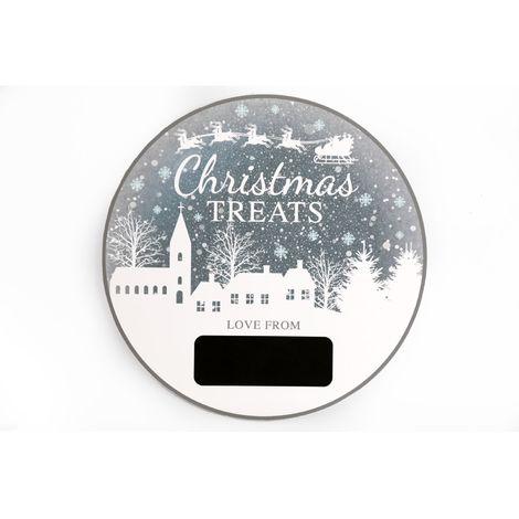 Calendrier de l'Avent rond Christmas Ice - Argent - Argent