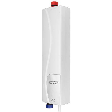 Calentador de agua eléctrico 3000W EU PLUG BLANCO