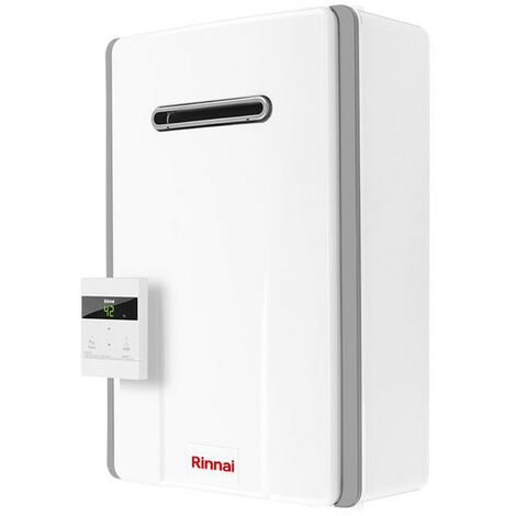 Calentador de agua instantáneo de Rinnai al aire libre de borde INFINITO 17 Litros de Gas natural REU-A1720W-Y-NG