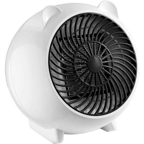 Calentador de aire, mini calentador de ventilador, cerámica, calentador eléctrico de ahorro de energía de 250 W, calentador de alta velocidad 2 s, apagado automático, protección contra sobrecalentamiento