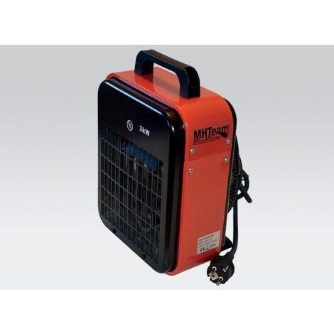 Calentador eléctrico 2000W IPX4 rojo cm 22,0x20,0x33,5 MHTEAM EH1-02