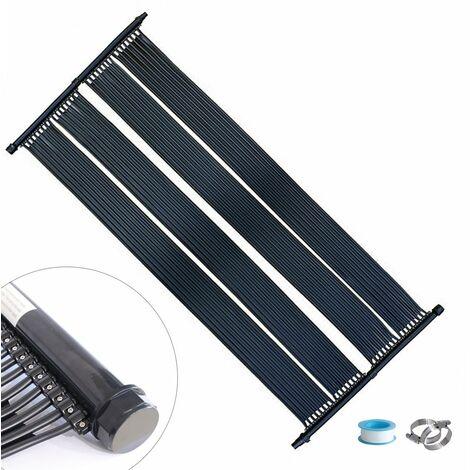 Calentador Solar Calentador de Piscina Colector Solar 605x80CM Panel Solar Lámina de Calor para Piscina