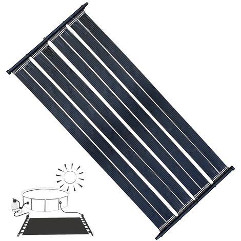 Calentador solar Panel Solar para Calefacción de Piscinas 2 X 605x80CM Absorbedor Solar para calentar piscinas