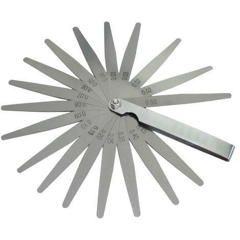 Cales jauge d'épaisseur pour contrôle jeu des soupapes 0.02-0.50mm lame outil de mesure