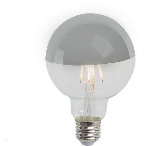 Calex Bombilla E27 LED filamento cúpula espejo plata regulable G95 280lm 2300K