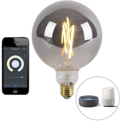 Calex Bombilla filamento globo LED regulable Smart app E27 1800-3000K