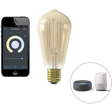 Calex Bombilla filamento LED Smart E27 ST64 7W 806lm 1800-3000K