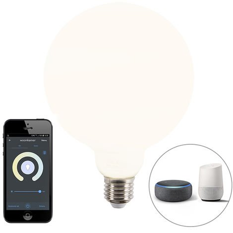 Calex Bombilla globo LED regulable Smart app E27 1055lm 2200-4000K
