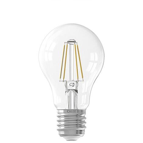 Calex Bombilla LED E27 regulable A60 filamento transparente 7W 810lm 2700K