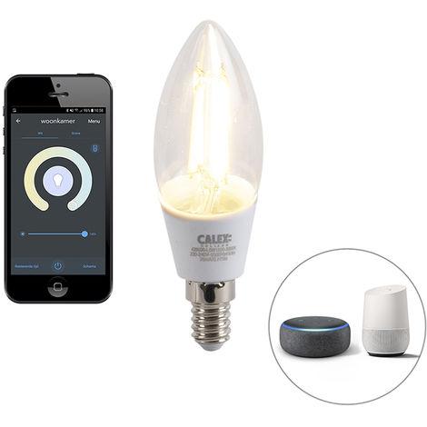 Calex Bombilla LED filamento regulable Smart app E14 4.5W 450lm 1800-3000K
