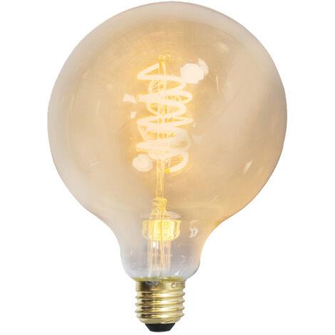 Calex Bombilla LED globo E27 4W 200lm regulable filamento retorcido
