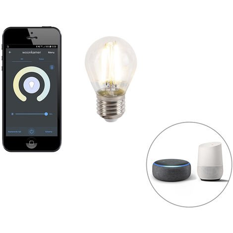 Calex Bombilla LED regulable filamento Smart app E27 450lm 1800-3000K
