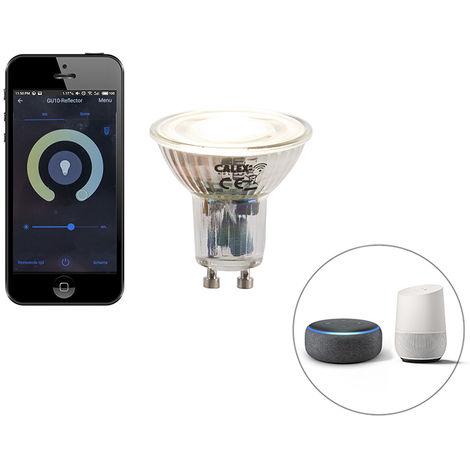 Calex Bombilla LED regulable GU10 WiFi Smart app 5W 380lm 2200-4000K