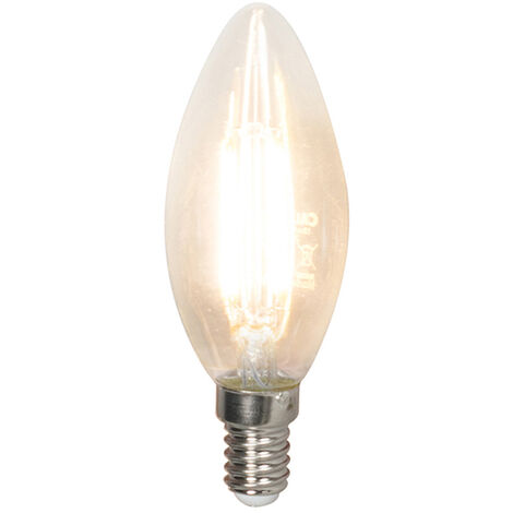 Calex Bombilla vela filamento LED regulable E14 B35 3.5W 350lm 2700K