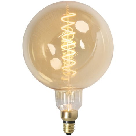 Calex Set 3 bombilla globo filamento LED regulables E27 MEGA globe 2100 K