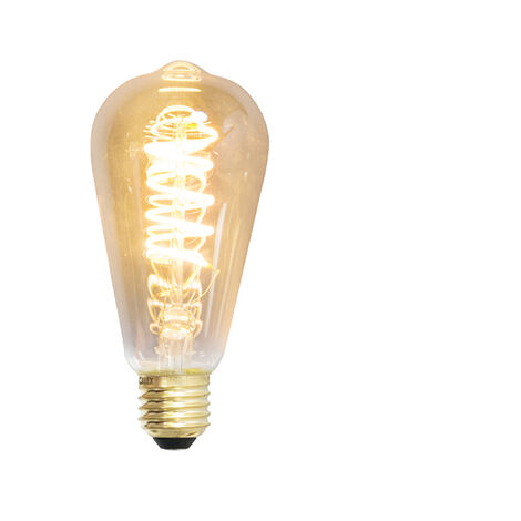 Calex Set 3 bombillas LED filamento espiral Rústico E27 240V 4W 200lm regulable