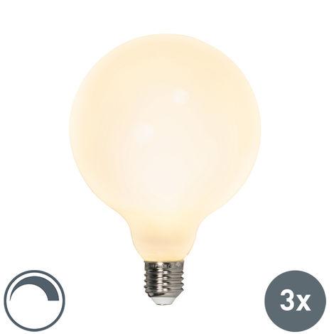 Calex Set 3 bombillas LED G125 E27 240V 8W 900lm regulables