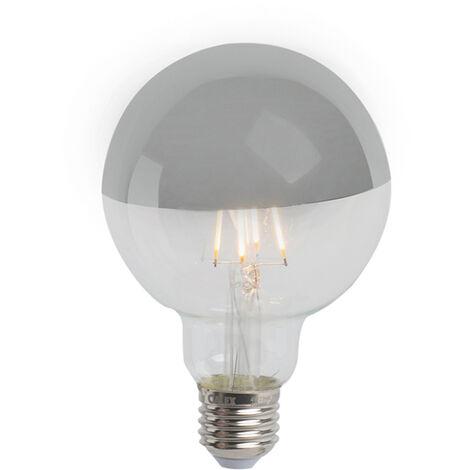 Calex Set 3 bombillas LED regulable espejo plateado E27 G95 280lm 2300K