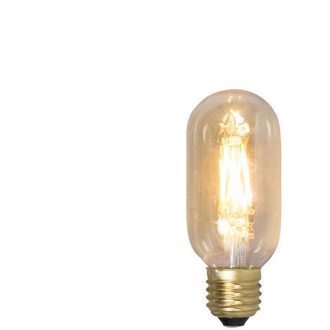 Calex Set 3 bombillas tubo S filamento LED E27 240V 4W 320lm T45L regulable