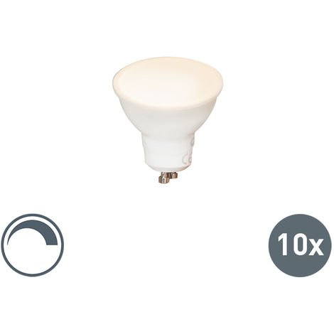Calex Set de 10 bombillas LED GU10 240V 6,5W 450lm regulable