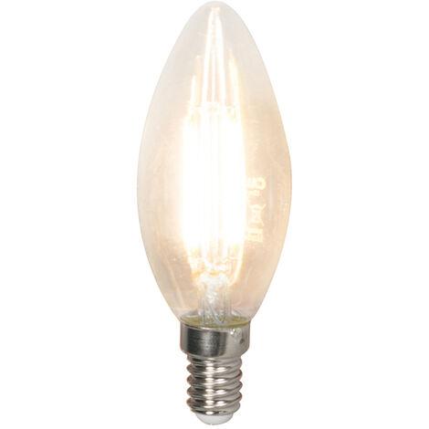 Calex Setde 5 bombillas vela filamento LED regulables E14 350lm 2700K