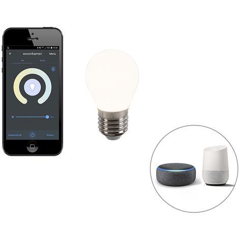 Calex Smart LED filament lamp E27 P45 2200-4000K 4,5W 400 lm