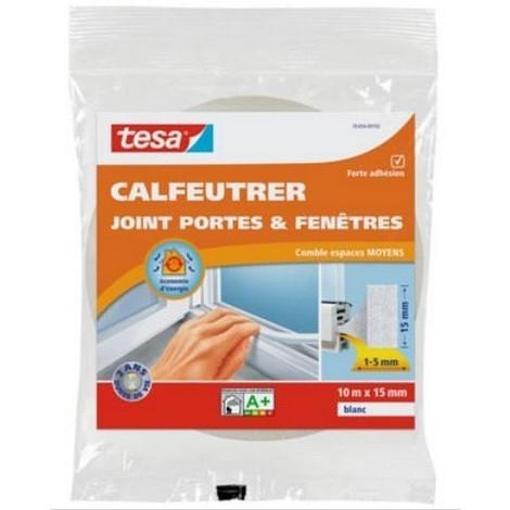 Calfeutrer - Joint portes et fenêtres combles espaces moyens 15 mm blanc - 252334