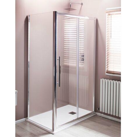 Cali Cass Eight Sliding Door Shower Enclosure 1100mm x 700mm - 8mm Glass