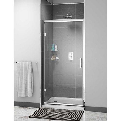 Cali Cass Six Hinged Shower Door 700mm Wide - 6mm Glass