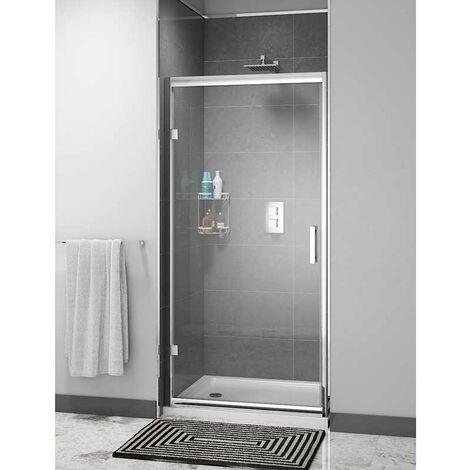 Cali Cass Six Hinged Shower Door 800mm Wide - 6mm Glass