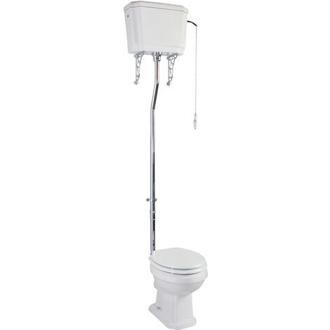 Cali Cromford Traditional High Level Toilet Pan and Cistern - Excluding Seat
