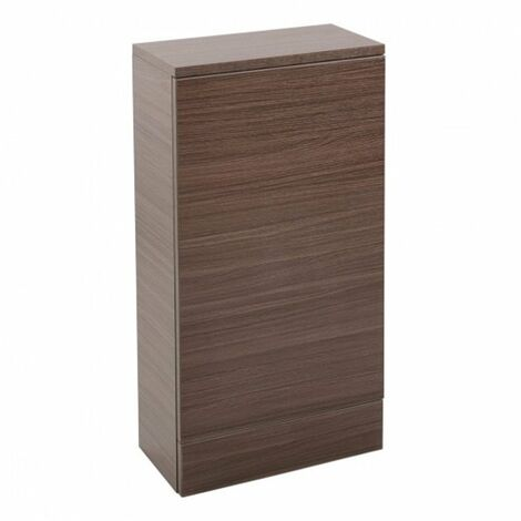 Cali Cube Back to Wall WC Unit - 410mm Wide - Walnut