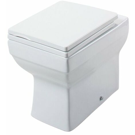 Cali Dice Square Back to Wall Toilet - Heavy Duty Soft Close Seat