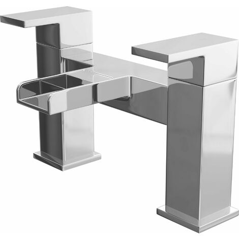 Cali Dunk Waterfall Bath Filler Tap - Deck Mounted - Chrome