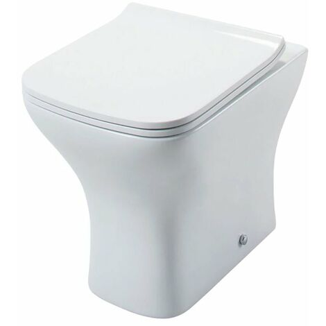 Cali Fair Back to Wall Toilet Pan with Soft Close Quick Release Slimline Seat