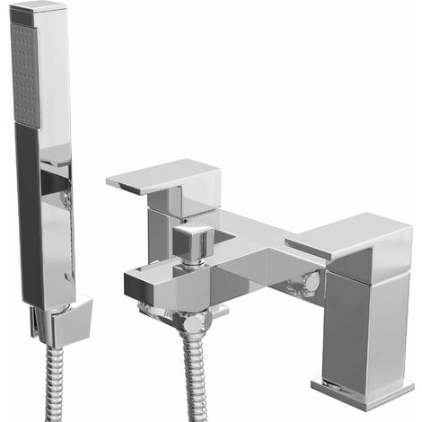 Cali Form Bath Shower Mixer Tap - Deck Mounted - Chrome