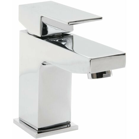 Cali Form Mono Basin Mixer Tap Deck Mounted with Click Clack Waste - Chrome