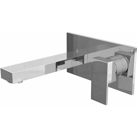 Cali Form Wall Mounted Basin Mixer Tap - Chrome