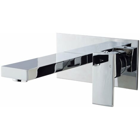 Cali Form Wall Mounted Bath Filler Tap - Chrome