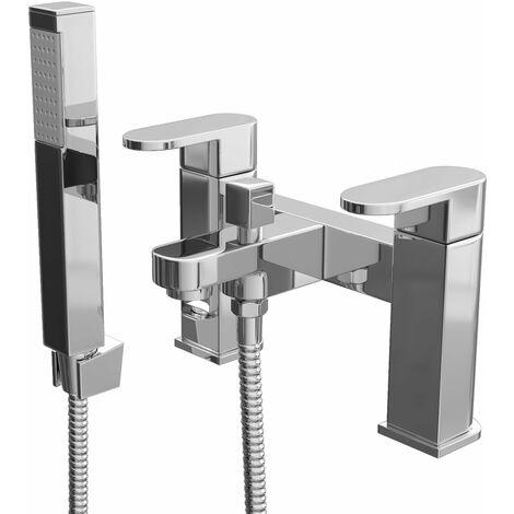 Cali Gento Bath Shower Mixer Tap - Deck Mounted - Chrome