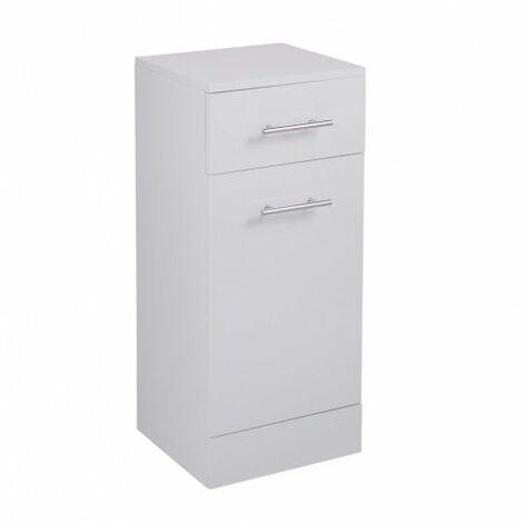 Cali Kass Laundry Basket with Drawer - 330mm Depth - Gloss White