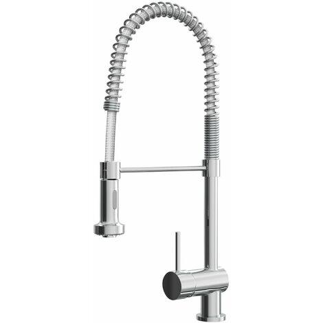 Cali Kitchen Sink Mixer Tap - Flexible Spray - Chrome
