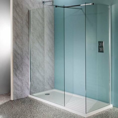 Cali Lana Easy Clean Wet Room Glass Panel 700mm Wide - 10mm Glass