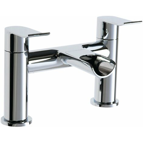 Cali Lou Waterfall Bath Filler Tap - Deck Mounted - Chrome
