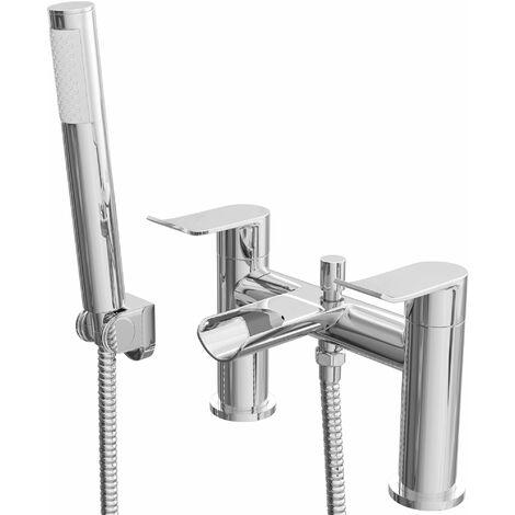 Cali Lou Waterfall Bath Shower Mixer Tap - Deck Mounted - Chrome