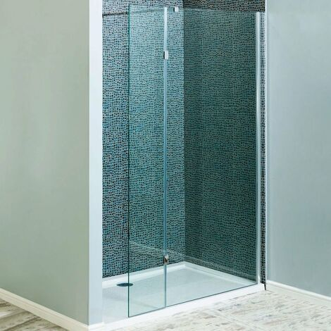 Cali Marna Easy Clean Wet Room Glass Single Panel Only 1200mm Wide - 8mm Glass
