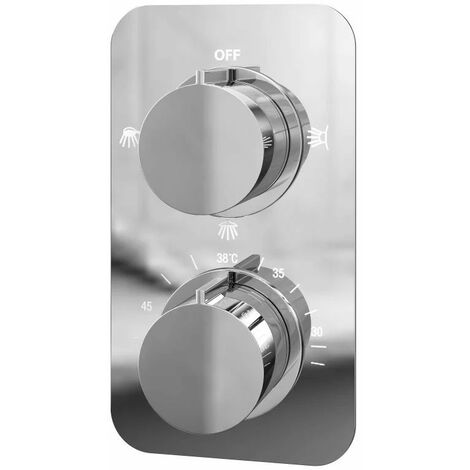 Cali Moderno Thermostatic Concealed Shower Valve Triple Function - Chrome